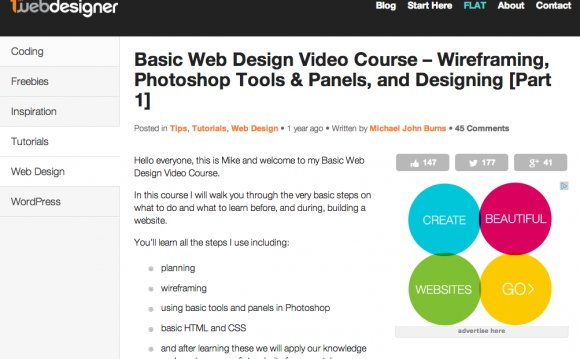 Website Design Tutorials Worth