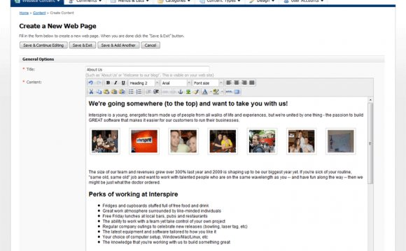 Creating a Web Page