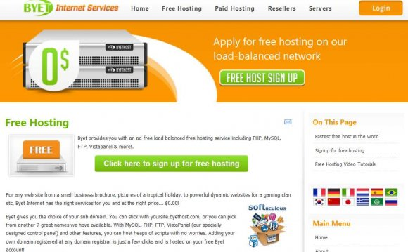 Easy Website Builder, Hosting