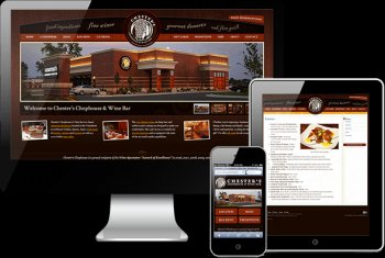 Chester's Chophouse web design