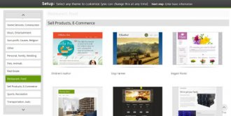 GoDaddy Template Gallery