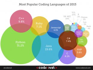 Popular Programming Language Graph