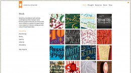 Screenshot of Jessica Hische's portfolio at