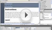 Dreamweaver CS5 Tutorial Designing a Web Page Using CSS
