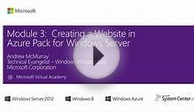 (Module 3) Creating a Website in Azure Pack for Windows Server