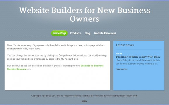Create a website for my business
